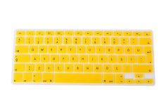 HRH Turkish Silicone EU Keyboard Cover Skin For Apple Macbook Pro Retina 1.15 17 MAC Air 13 (Yellow)