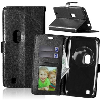 Leather Flip Stand Case Cover for Asus Zenfone Zoom ZX551ML (Black) - intl