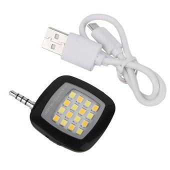 Gajah - Smartphone LED Flash & Fill-in Light - Selfie Lamp Atau Lampu Flash - Hitam