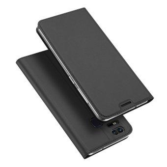 Leather Case Magnetic Flip Stand Cover for Asus ZenFone 3 Zoom ZE553KL - Black - intl