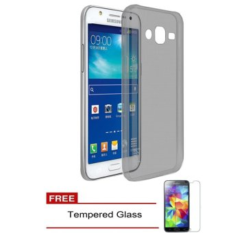 Case TPU Phone Case for Samsung Galaxy J2 Prime - Hitam Tranparan + Free Tempered Glass