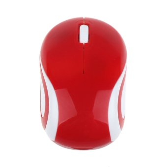 361 Cute Mini 2.4 GHz Wireless Optical Mouse Mice for PC Laptop Notebook (Red)