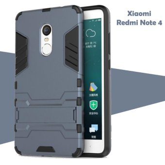 Case for Xiaomi Redmi Note 4 Iron Man Case Transformer Ironman Limited – Biru Dongker