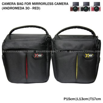 Camera Bag for Mirrorless Camera - Andromeda 30 (Red) for FujiFilm X-A3, X-A2, X-T10, Canon EOS M10, EOS M3, Sony @6000, @5000, Etc