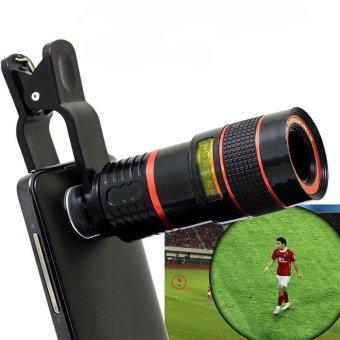LIEQI LQ - 007 Multi-coating Glass Universal 8X Zoom Telephoto Lens Shutterbug Necessary for iPhone 6 Plus iPad Air Samsung Galaxy S6 Edge Notebook PC etc. - intl