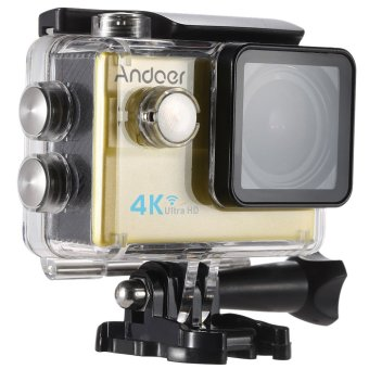 Andoer Ultra HD Action Sports Camera 2.0 LCD 16MP 4K 25FPS 1080P 60FPS 4X Zoom WiFi 25mm 173 Degree Wide-Lens Waterproof 30M Car DVR DV Cam Diving Bicycle Outdoor Activity