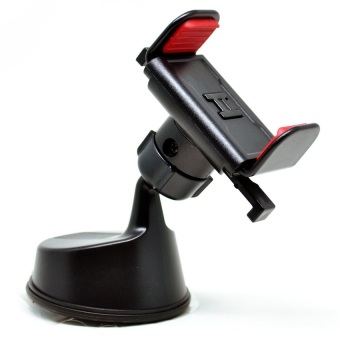 Universal 360 Rotation Car Suction Cup Mount Smartphone Holder - Hitam