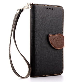 PU Leather Flip Protective Case Cover with Strap for HTC One M7 (Black) –
