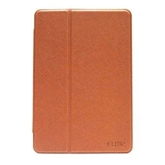 Ume Flip Leather Case Cover For Ipad Mini 2 - Cokelat