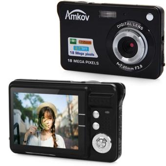 Amkov CDC3 2.7 Inch TFT Screen 18.0MP CMOS 3.0MP Anti-shake Digital Video Camera with 8X Digital Zoom (Black) - intl