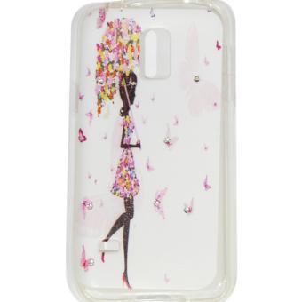 Cantiq Case Lovely Girls Shine Swarovsky For Samsung Galaxy S5 Mini G800F Ultrathin Jelly Case Air