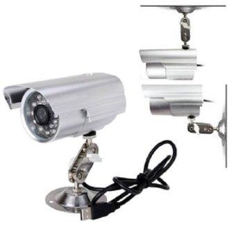 Outdoor USB CCTV with Micro SD slot Camera micro sd Luar – Silver