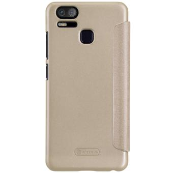 Nillkin Sparkle Series Book Type Ultra Thin Flip Up PU Leather Slim Cover Case for Asus Zenfone 3 Zoom ZE553KL - Gold - intl