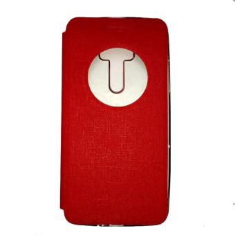 Ume Asus Zenfone Zoom ZX551ML View / Flipshell / Flip Cover / Leather Case / Sarung HP / Sarung Asus Zenfone Zoom - Merah