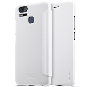 Nillkin Sparkle Series Book Type Ultra Thin Flip Up PU Leather Slim Cover Case for Asus Zenfone 3 Zoom ZE553KL - White - intl