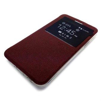 Ume Oppo F1S Selfie Expert Flipcase Flipshel Casing Leather Case-Coklat