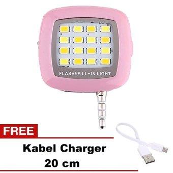 ZenBlade Lampu Selfie Flash Light Untuk Smartphone - Pink
