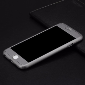 Hardcase Case 360 Iphone 5/5s/5SE Casing Full Body Cover - Grey + Free Tempered Glass