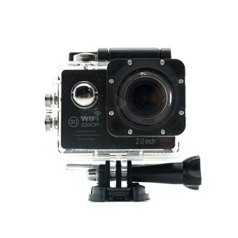 Miibox Action Camera / Sport Cam WIFI FULL HD 1080P 2.0inch LCD 12MP 30FPS 4X Zoom 170 Degree Wide Lens Waterproof (Hitam)