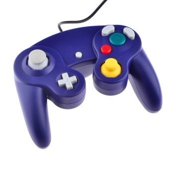 360DSC Wired Shock Game Controller for Nintendo GameCube NGC Video Game & Wii - Blue