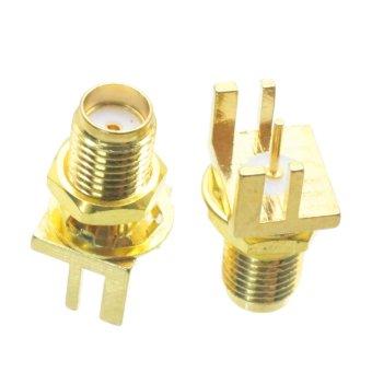 Fliegend 1pce SMA female nut bulkhead solder deck PCB clip edge mount RF connector 9.52mm