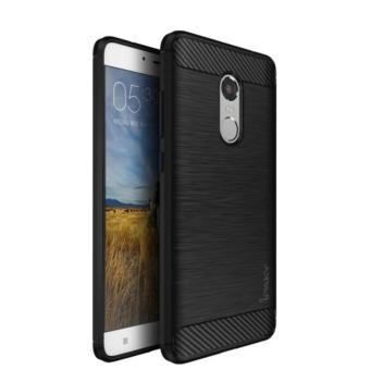Original Ipaky Case Fiber Shockproof Hybrid Case for Xiaomi Redmi Note 4 - Black · >