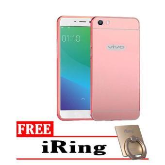 Harga Terbaru Case Metal Vivo Y55 Bumper Mirror Slide - Rose + Free iRing
