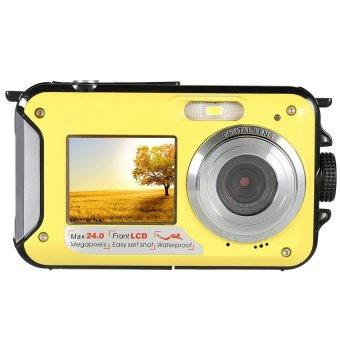 Amkov 24MP 16X Digital Zoom Digital Camera Camcorder Video RecorderWaterproof (Yellow)