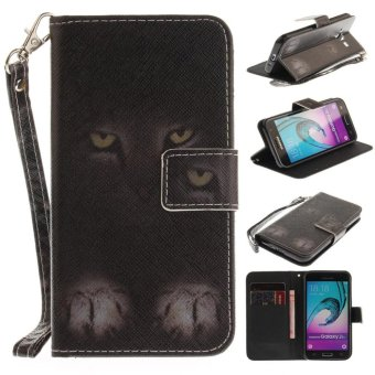 Folio PU leather Card holder Cover with magnetic closure shell pattern phone case For Samsung Galaxy