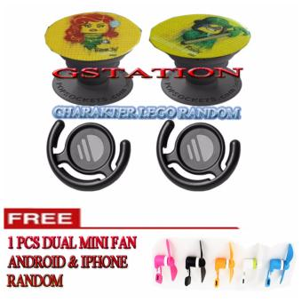 1SHOP Buy 2 Pop Socket Charakter Lego Get 1 Dual Mini Fan For IOS & IPHONE