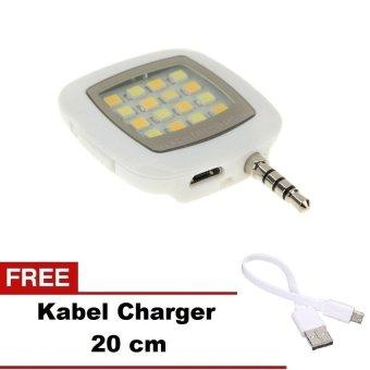 ZenBlade Lampu Selfie Flash Light Untuk Smartphone - Putih + Gratis Kabel Charger