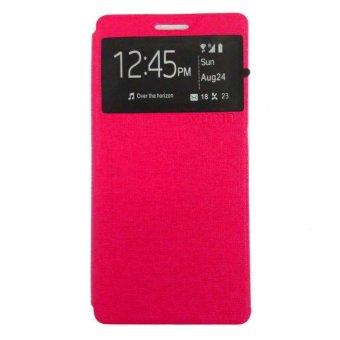 Ume Oppo F1S Selfie Expert Ume Flipcase Flipshel Casing Leather Case - Pink