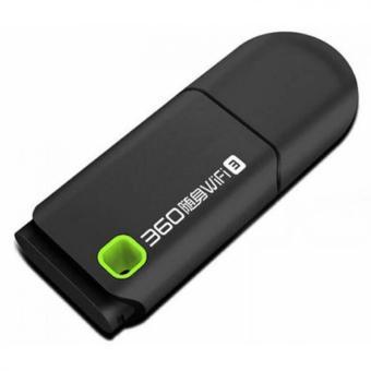 360 Wifi Portable 360 3rd Gen Mini USB Wireless Router Wifi Adapter 300Mbps - Hitam