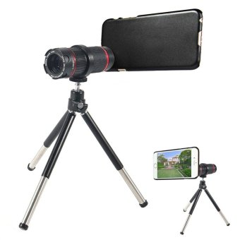 LIEQI Shutterbug Necessary 4 - 12X Zoom Optical Magnification Telescope Lens with Tripod Back Cover Case for Apple iPhone 6 6S - intl