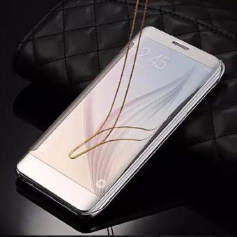 Harga Terbaru Samsung J2 Prime Flipcase Flip Mirror Cover S View Transparan Auto Lock Casing Hp