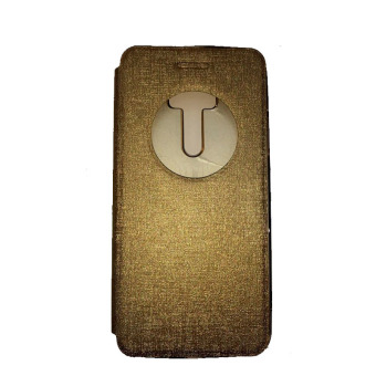 Ume Asus Zenfone Zoom ZX551ML View / Flipshell / Flip Cover / Leather Case / Sarung HP / Sarung Asus Zenfone Zoom - Gold