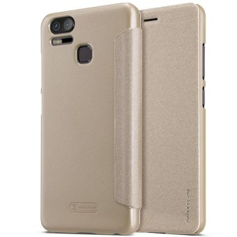 Nillkin Leather Case Sparkle Series Super Thin Flip Cover for Asus Zenfone 3 Zoom ZE553KL - intl