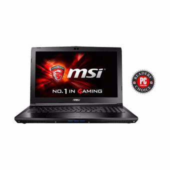 Jual MSI GP62 7RD-492XID BLACK - Ci7-7700HQ - 8GB - GTX1050 4GB - 15.6