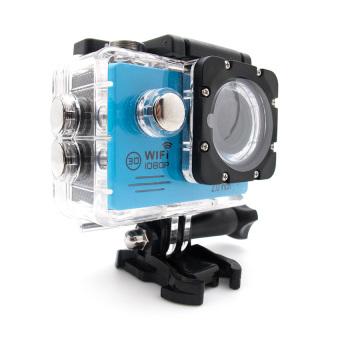 Miibox Action Camera / Sport Cam WIFI FULL HD 1080P 2.0inch LCD 12MP 30FPS 4X Zoom 170 Degree Wide Lens Waterproof (Biru)