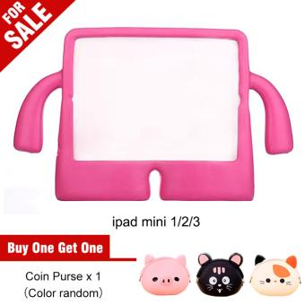 Portable Multi-functional Kids Thick Foam EVA Protective Cover Mini Anti-drop Flat Bracket for Samsung tab 3/4 7.0' (Magenta) - intl