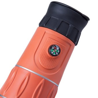 16 x 52 Zoom Monocular Telescope Low Light Level Night Vision Optics Zoom Lens with Compass Orange