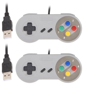 harga 2x Super Nintendo SNES USB Classic Famicom Controller for PC MAC Games Lazada.co.id