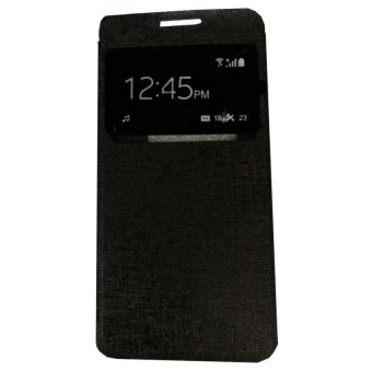 Ume Flip Shell / FlipCover for Samsung Galaxy A5 A500F / Samsung A5 Leather Case / Sarung HP / View - Hitam