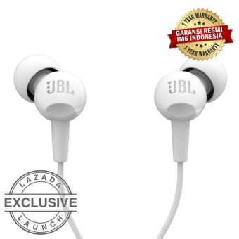 Harga JBL C100SI In-Ear Headphones with Mic – Compatible with Android & iOS – Putih Murah