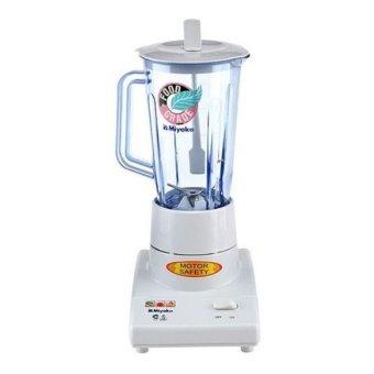 Miyako BL-102GS Blender Kaca + Wet & Dry Mill - Putih