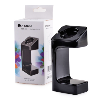 ZUNCLE Portable HQT-431 Rechargeable Stand for Apple Watch(Black)