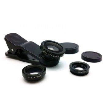 Harga Newtech Fisheye Universal Clip Lens 3in1 Fish Eye - Hitam