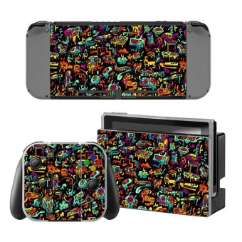 New Decal Skin Sticker Anti Dust PVC Protector For Nintendo Switch Console ZY-Switch-0129 - intl