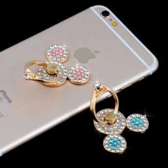 Promotion Smart Mobile Phone Accessories Universal 360°Rotation Lovely Bear Finger Ring Phone Holder Smart Phone Case Accessories - intl
