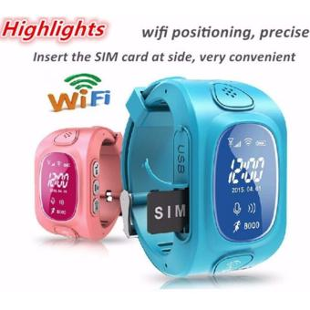 2Cool Kids Smart Watch WiFi Position Anti Lose GPS Tracker Children SOS Phone Call SmartWatch for iPhone Android(Blue) - intl
